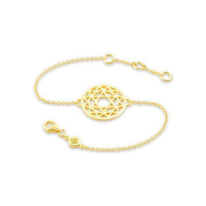 Picture of Heart Chakra Chain Bracelet in Gold