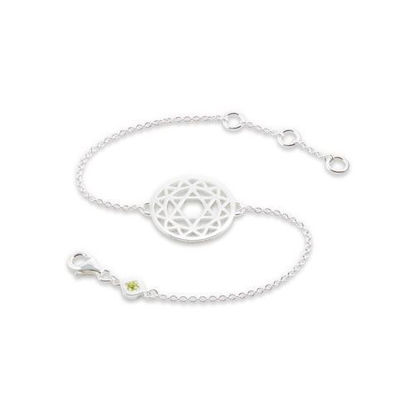 Picture of Heart Chakra Bracelet in Silver