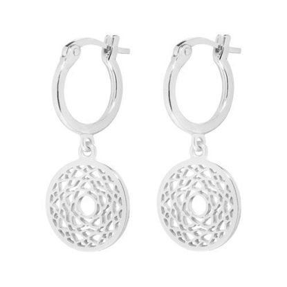 Picture of Crown Chakra Drop Earrings in Silver