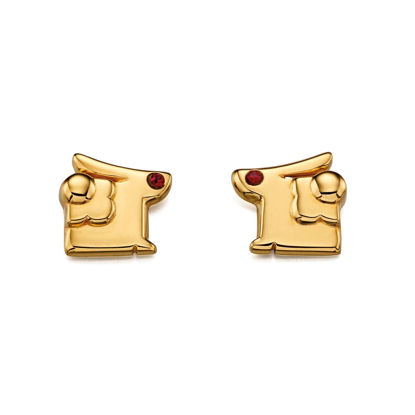 Picture of Gold Rabbit Earrings with Swarovski detail