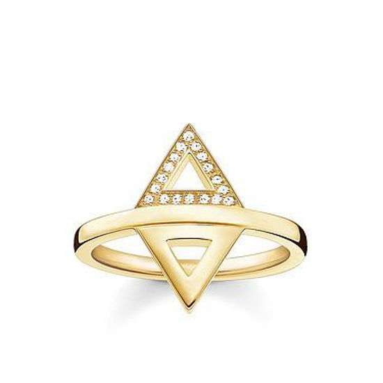 Picture of Diamond Triangle Ring in Gold
