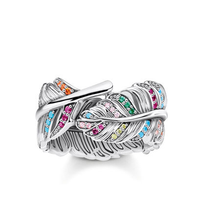 Picture of Colourful Feather Ring
