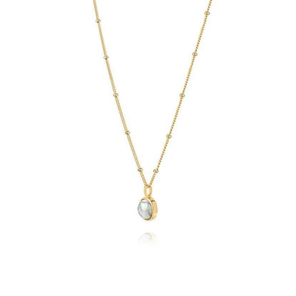Picture of Howlite Healing Stone Necklace 18Ct Gold Plate