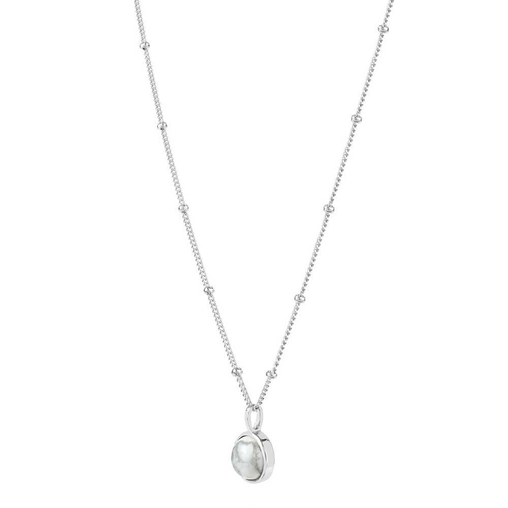 Picture of Howlite Healing Stone Necklace Silver