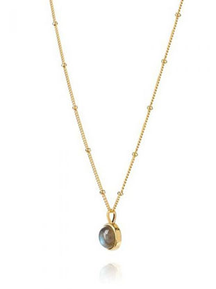 Picture of Labradorite Healing Stone Necklace 18Ct Gold Plate