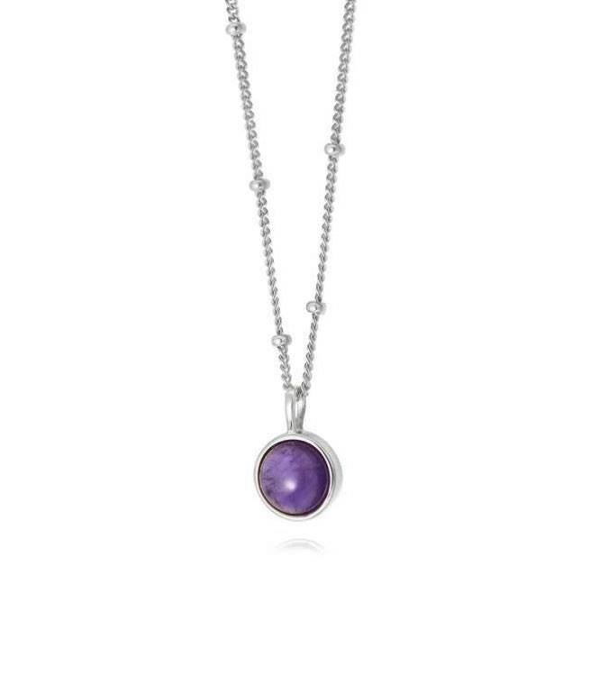 Picture of Amethyst Healing Stone Necklace Silver