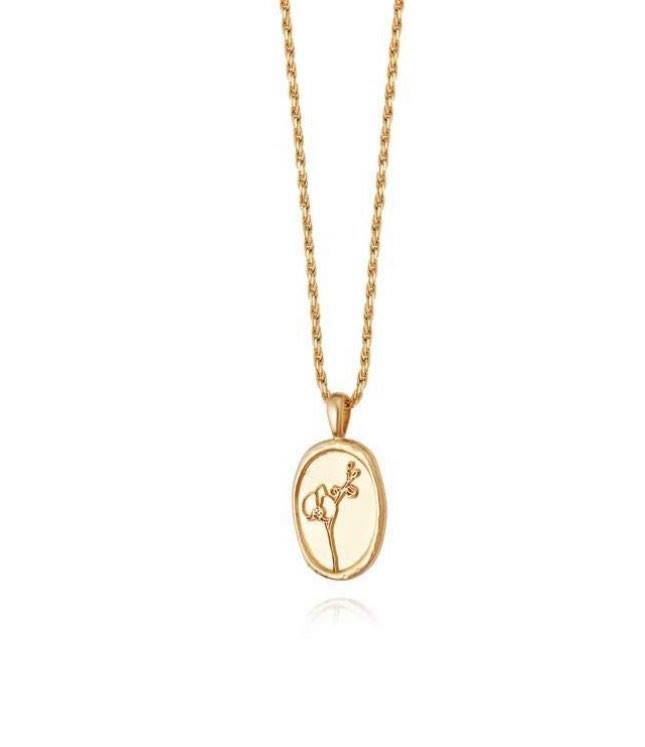 Picture of Orchid Flower Necklace 18Ct Gold Plate