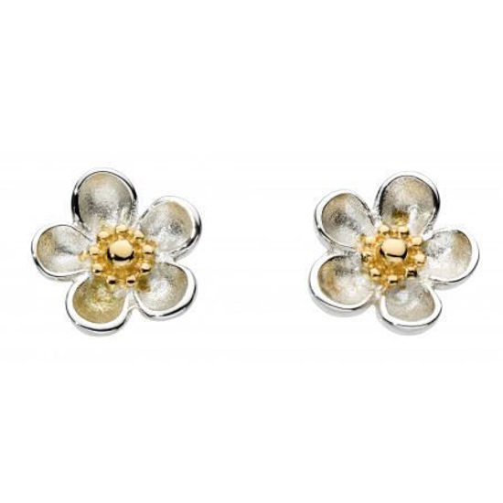 Picture of Blossom Wood Rose Gold Plate Stud Earrings