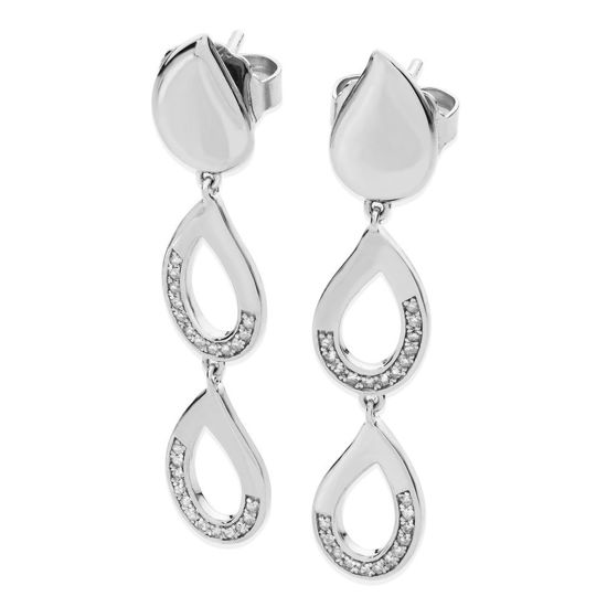 Picture of Melting Diamond Drop Earrings