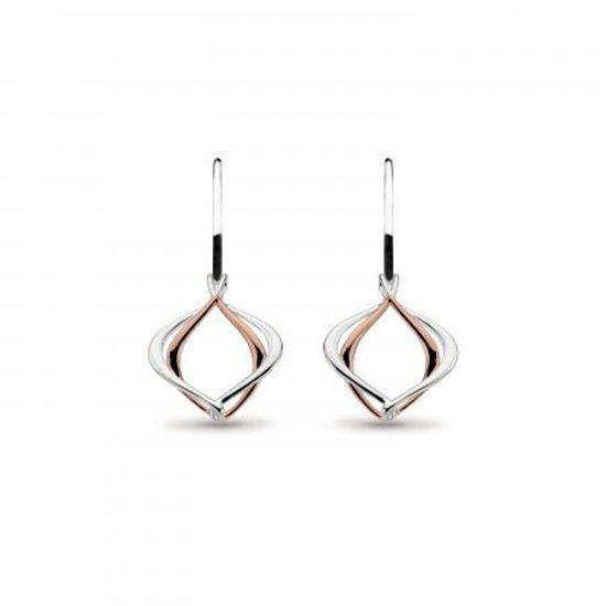 Picture of Entwine Alicia Small Rose Gold Plate Drop Earrings