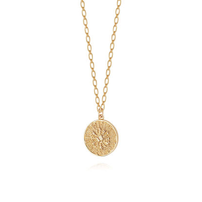 Picture of Artisan Woven Necklace 18ct Gold Plate