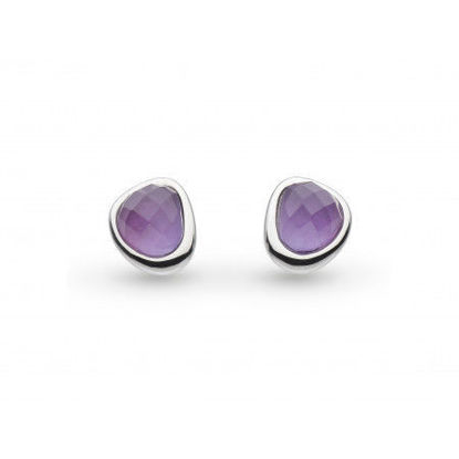 Picture of Coast Pebble Amethyst Mini Stud Earrings