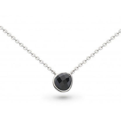 "Picture of Coast Pebble Black Agate Mini 17"" Necklace"
