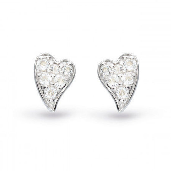 Picture of Kit Heath Desire Precious White Topaz Heart Stud Earrings