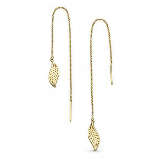 Picture of Kit Heath Blossom Eden Leaf Chain Pull Through Earrings