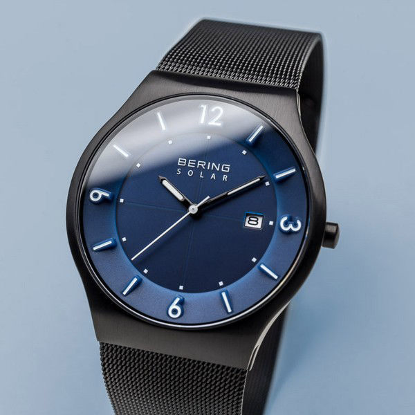 Picture of Being Solar Black Mesh Watch