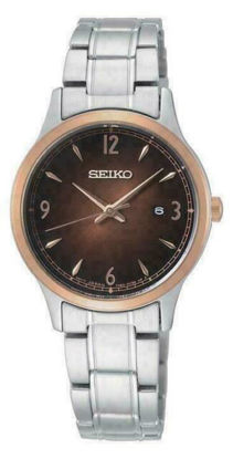 Picture of Seiko Chocolate and Rose Gold Watch