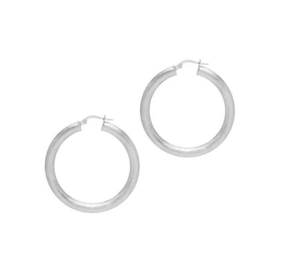 Picture of The Hoop Station La Satina Rotundo Silver 37mm