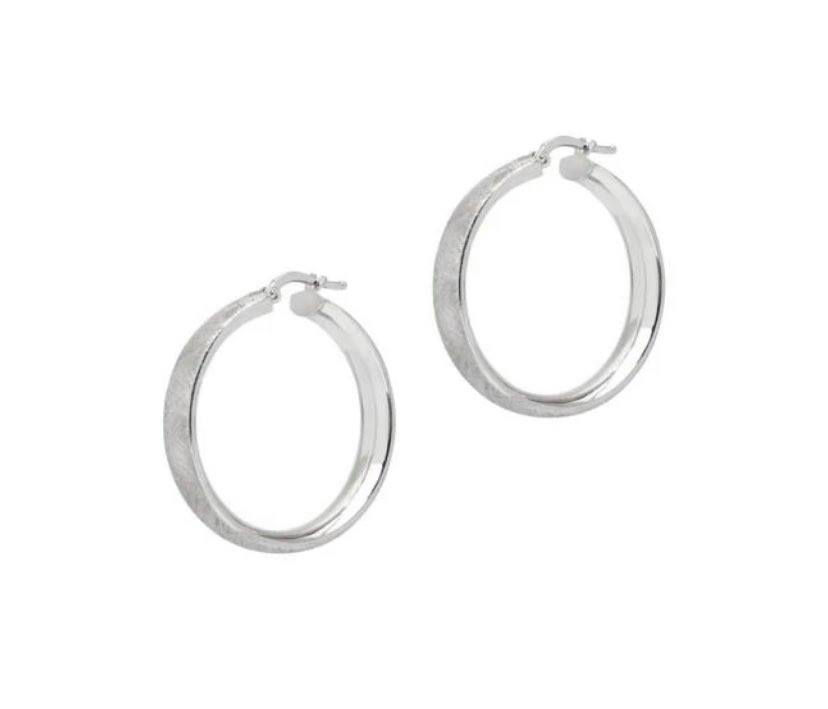 Picture of The Hoop Station La Satina Narrow Silver 30mm