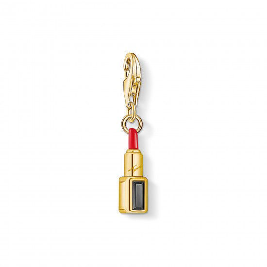 Picture of Gold Red Lipstick Charm