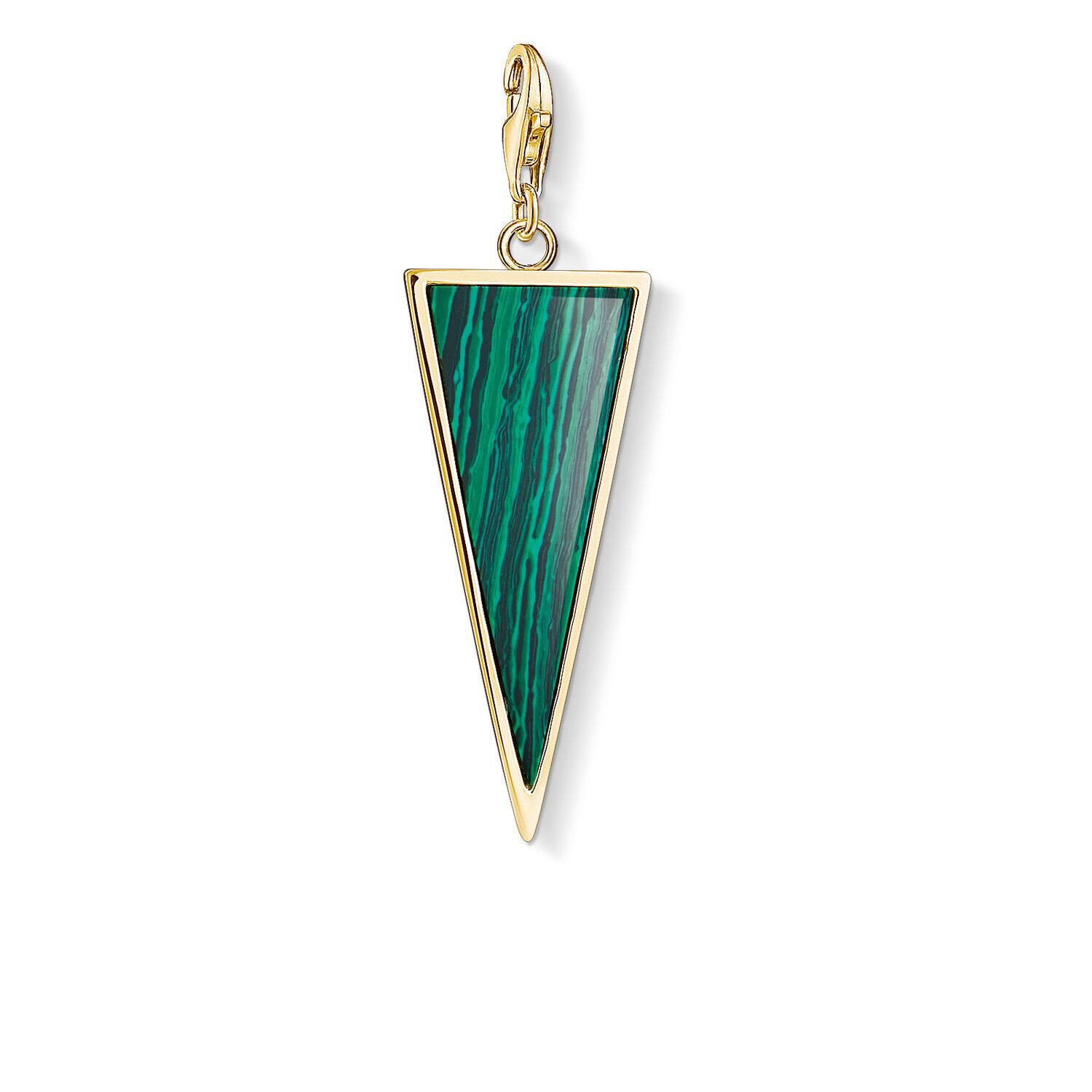 Picture of Green Triangle Gold Charm