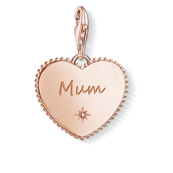 Picture of Heart Mum Rose Gold Charm