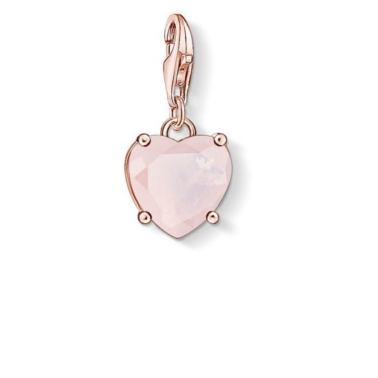 Picture of Heart with Rose Quartz Stone