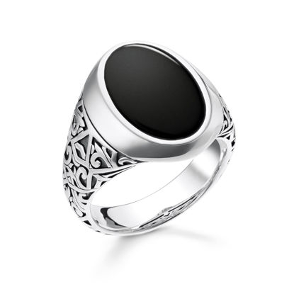 Picture of Black Signet Ring