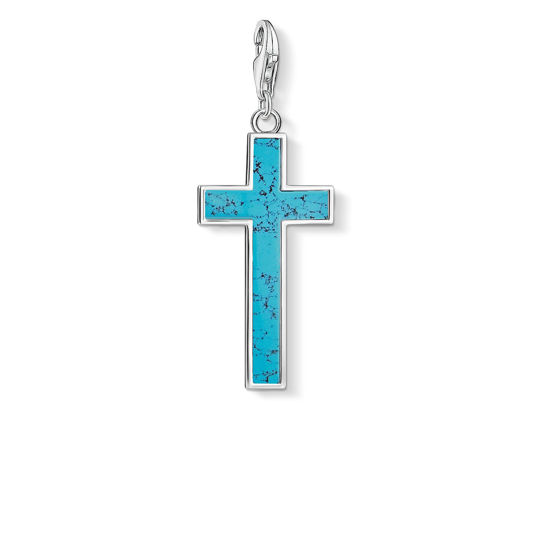 Picture of Turquoise Cross Charm