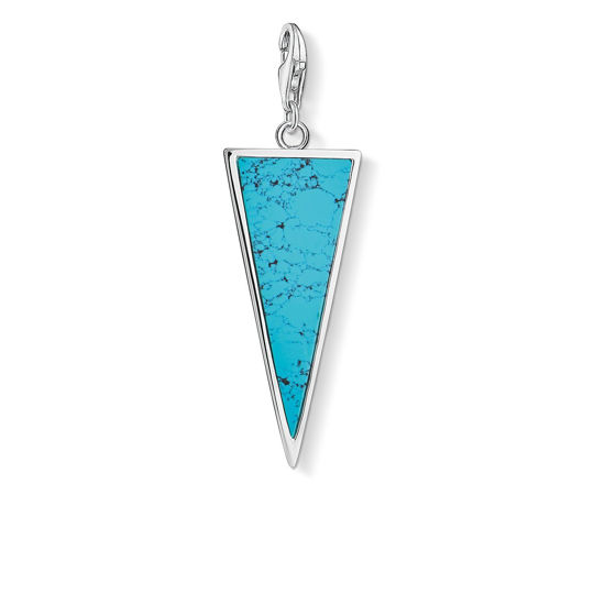 Picture of Turquoise Triangle Charm
