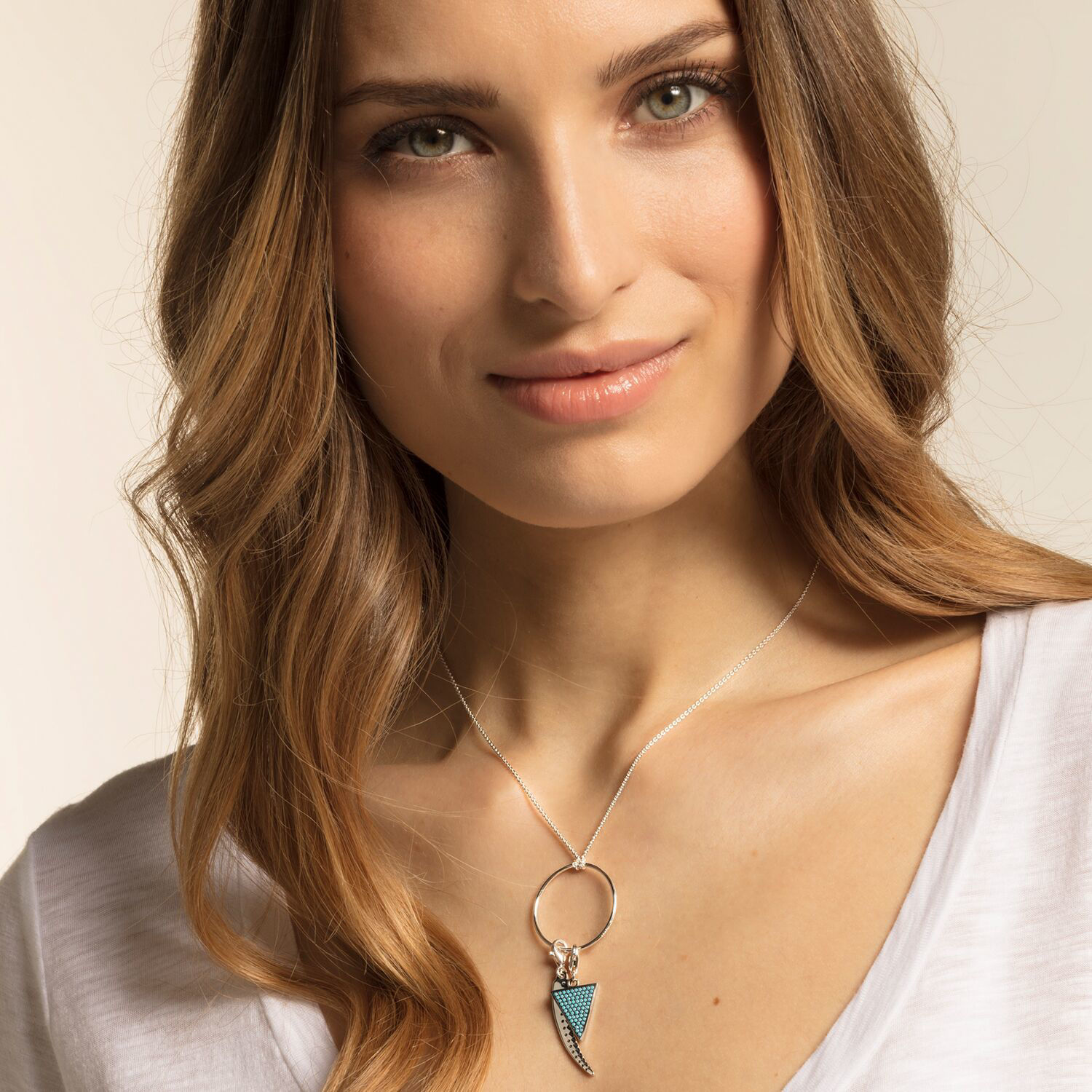 Picture of Triangle Turquoise Charm