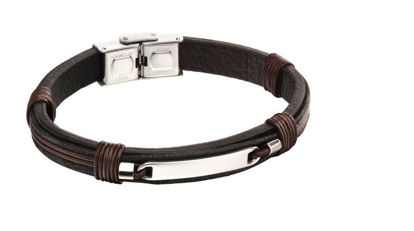 Picture of ID Woven In Leather Bracelet
