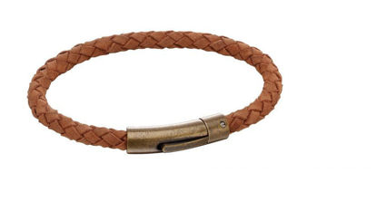 Picture of Brown Suede Antique Clasp Bracelet