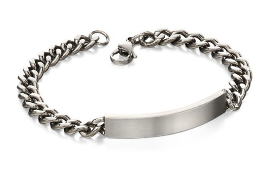 Picture of S/STEEL Brushed ID BRACELET