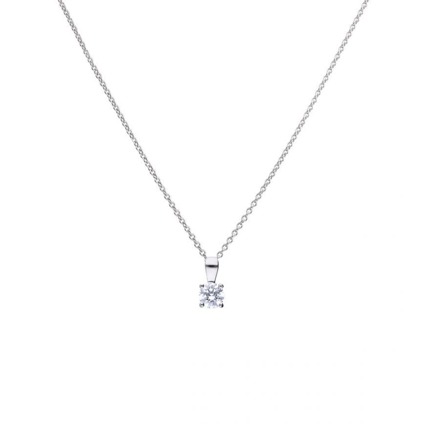 Picture of 0.50ct Four Claw Solitaire Necklace