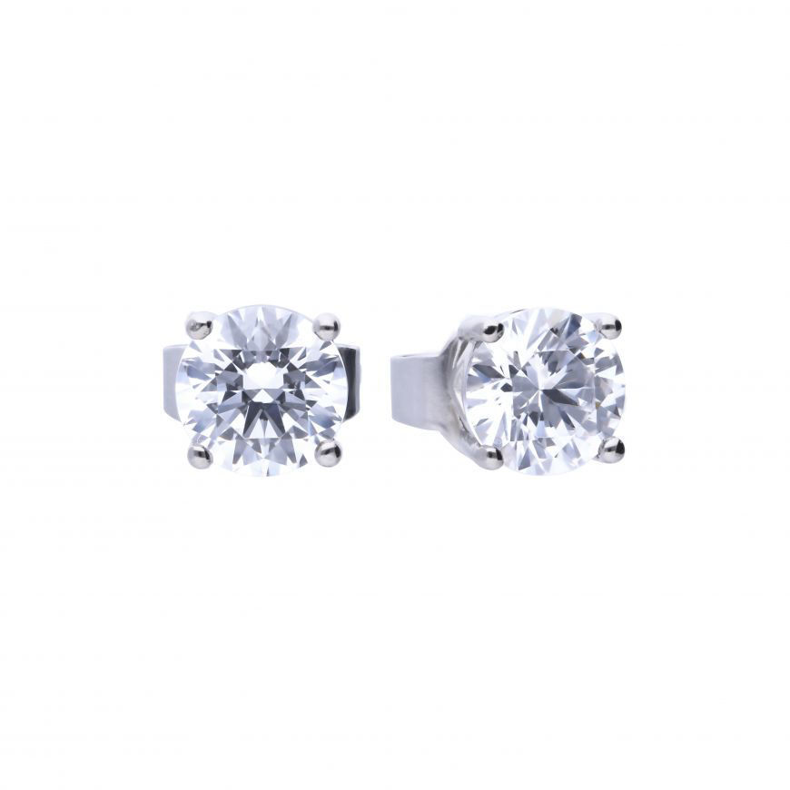 Picture of 0.75ct Four Claw Cubic Zirconia Stud Earring
