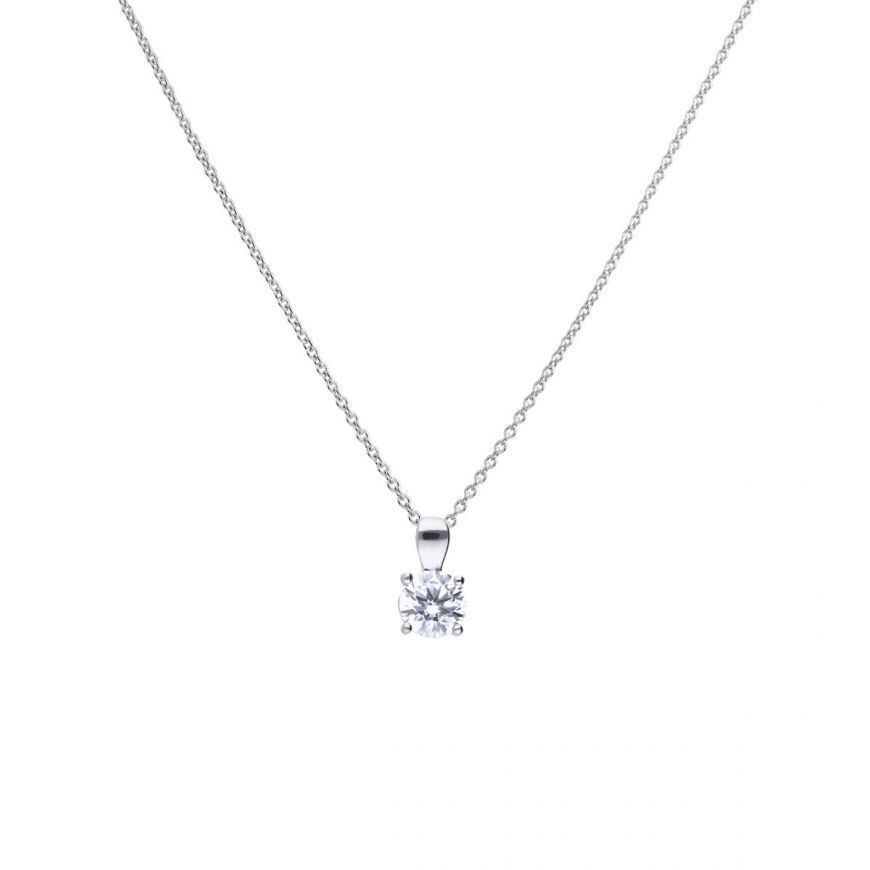 Picture of 1ct Four Claw Solitaire Necklace
