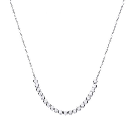 Picture of Bezel Set Half Tennis Necklace