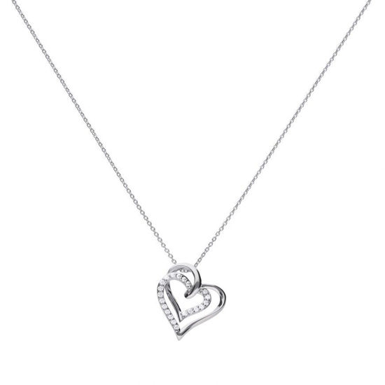 Picture of Overlayed Hearts Necklace