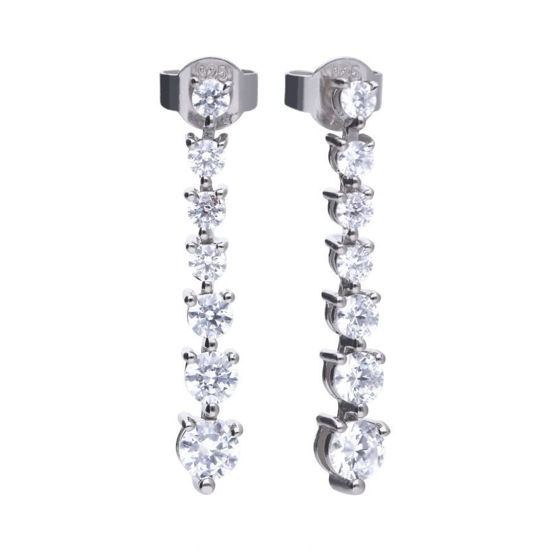 Picture of Claw Set Drop Earrings