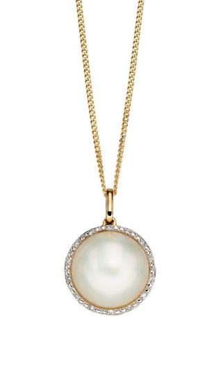 Picture of Mabe Pearl and Diamond Necklace