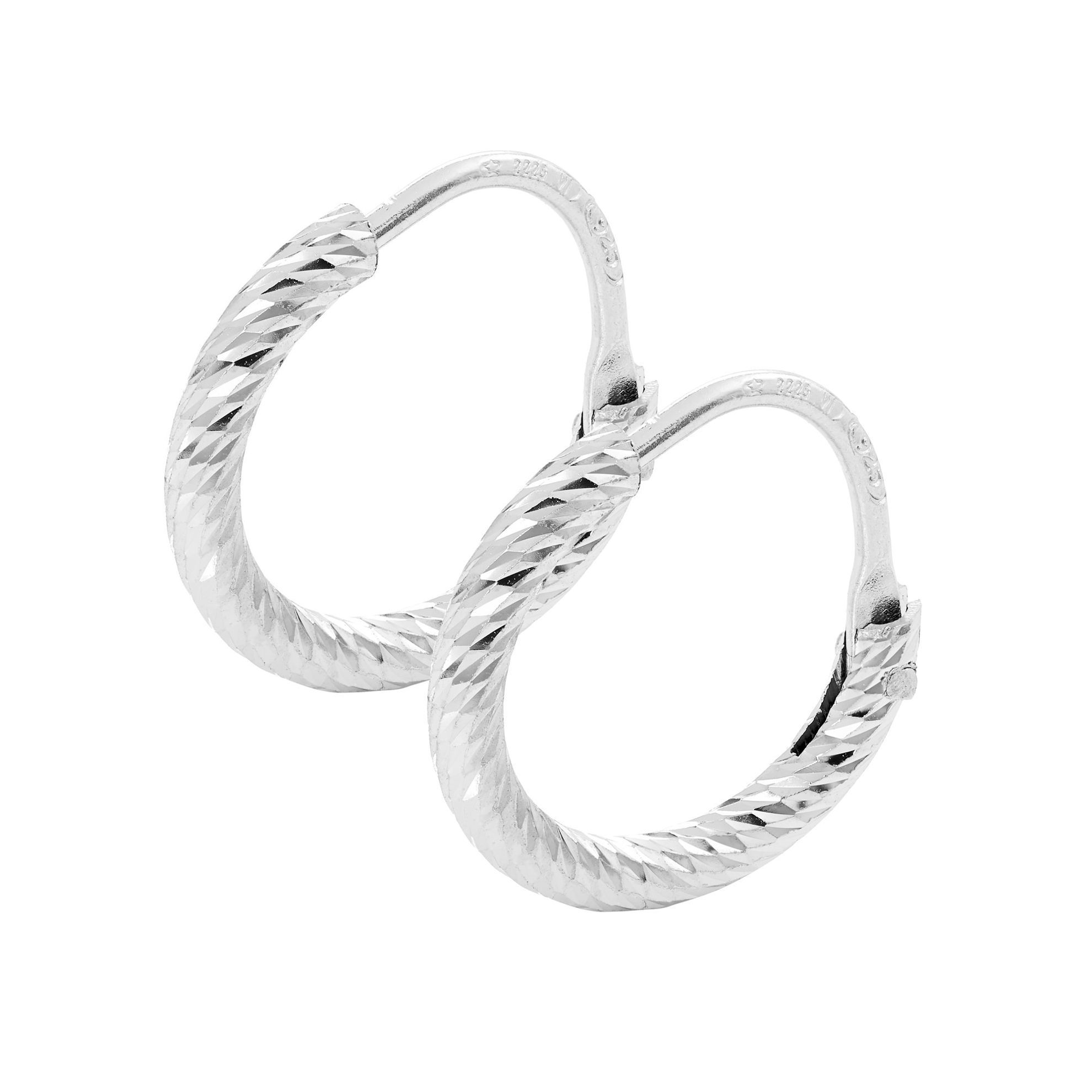 Picture of The Hoop Station La Roma Huggies in Silver 13mm