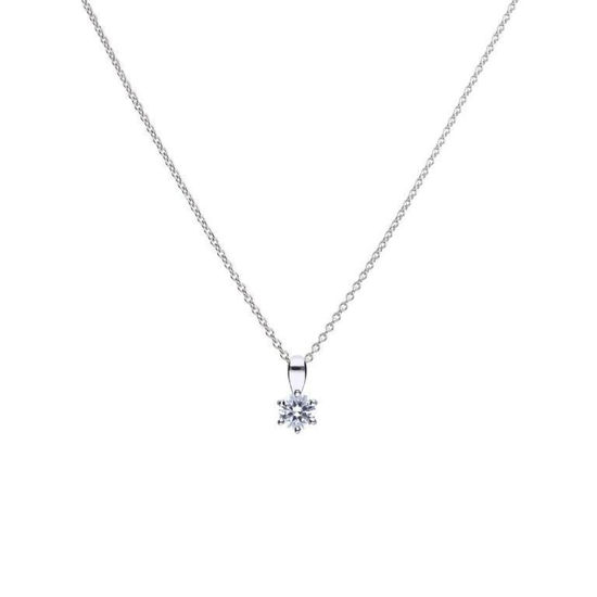 Picture of 0.25ct Solitaire Six Claw Set Necklace