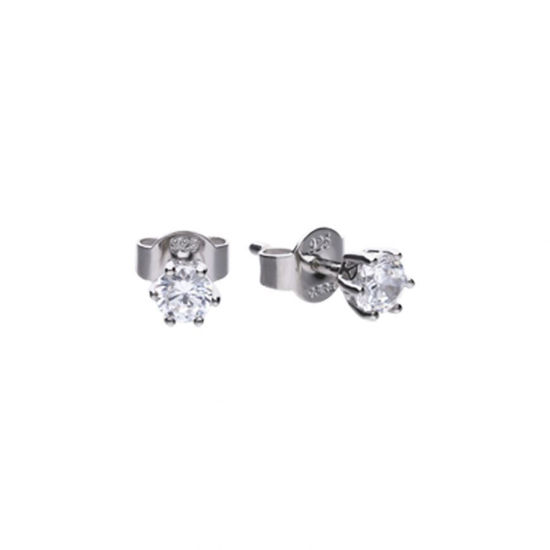 Picture of 0.50ct Solitaire Six Claw Set Stud Earrings
