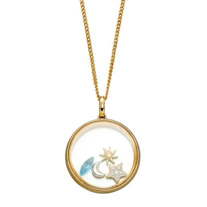 Picture of Floating Pendant With 4 Astrological Charms Necklace