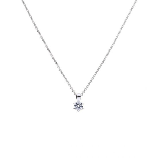 Picture of 0.75ct Solitaire Six Claw Set Necklace