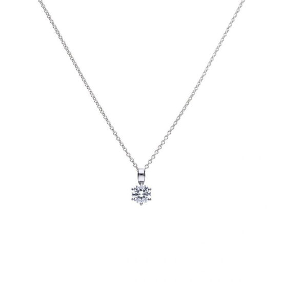Picture of 1ct Solitaire Six Claw Set Necklace