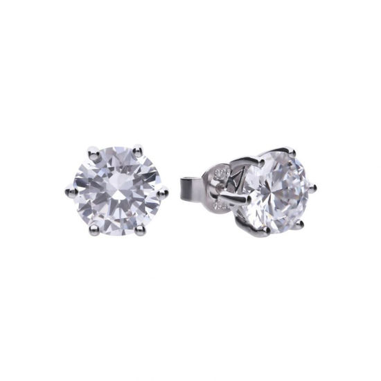Picture of 2ct Solitaire Six Claw Set Stud Earrings