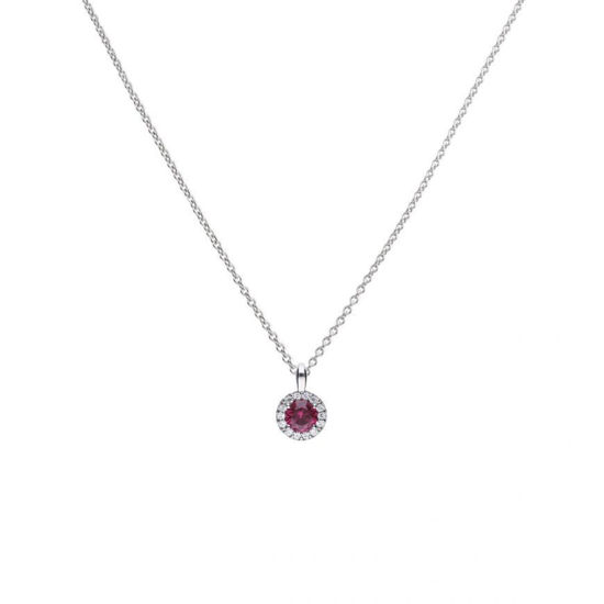 Picture of Red Round Pave Necklace