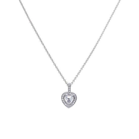Picture of Heart Pave Set Necklace